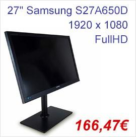 "27"" Samsung SyncMaster S27A650D LED DisplayPort DVI VGA Monitor"